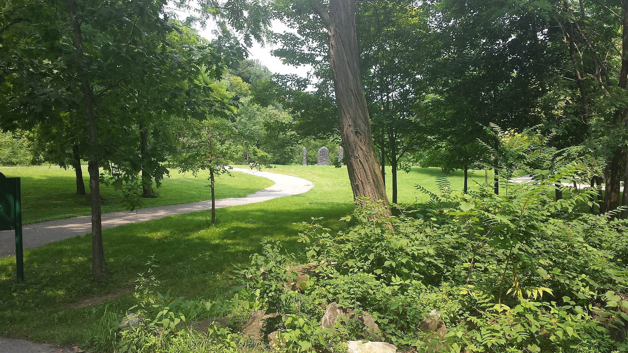 Genesee Riverway Trail Park along the way