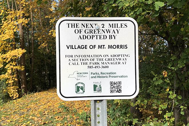 Genesee Valley Greenway Mt. Morris, NY Trail Sign