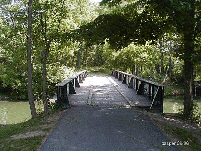 Genesee Valley Greenway Bridge at Fowlerville Bridge over creek at entrance to town park and treatment plant.