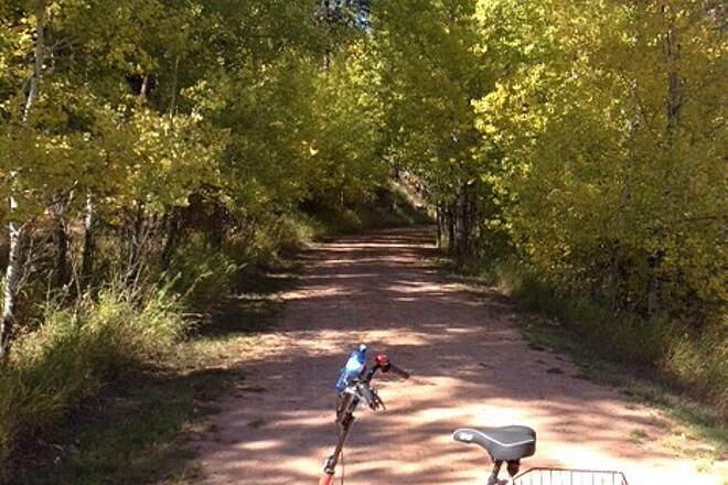 George S. Mickelson Trail Tree-lined trail The Mickelson Trail offers 109 miles of beautiful scenery for bikers, trikers, hikers, walkers!