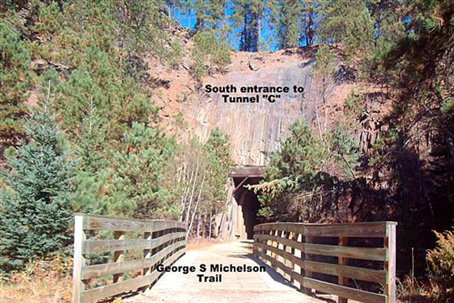 George S. Mickelson Trail George S. Mickelson Trail South entrance to Tunnel 'C'