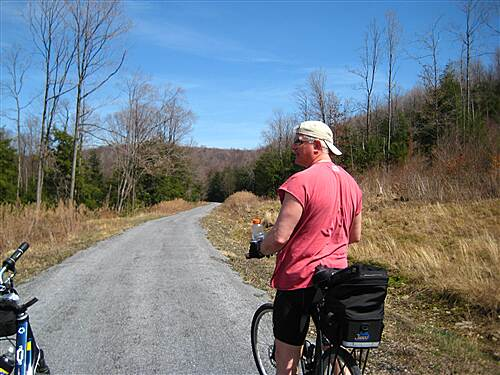 Ghost Town Trail April 22, 2008 Along the uphill grade from Nanty Glo to Ebensburg