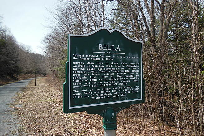 Ghost Town Trail Beula Marker side 1