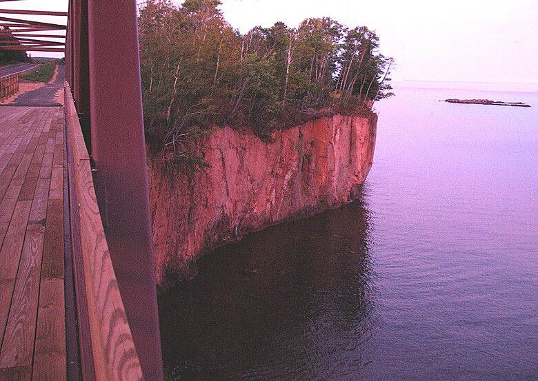 Gitchi-Gami State Trail Ryholite Cliff Bridge  Ryholite Cliff Bridge overlooking Lake Superior