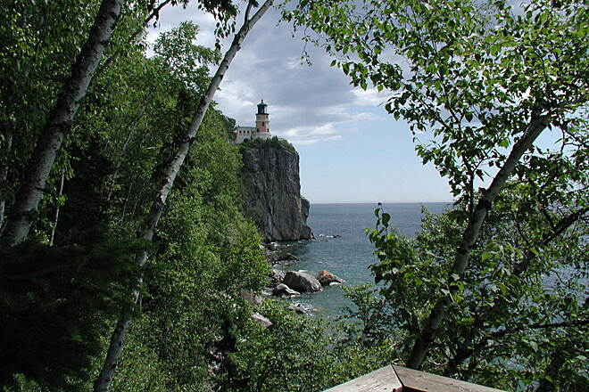 Gitchi-Gami State Trail Split Rock Lighthouse The bike trail connects to the Split Rock Lighthouse Visitors Center.