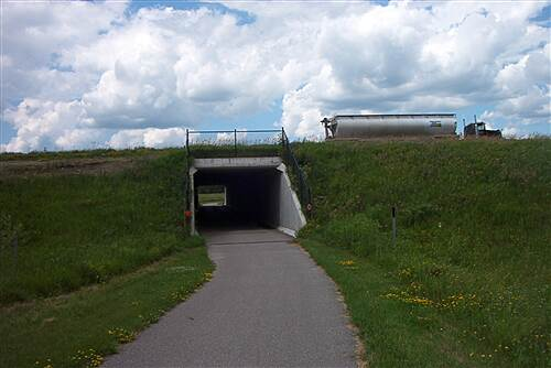 Glacial Lakes State Trail  Tunnel into Spicer