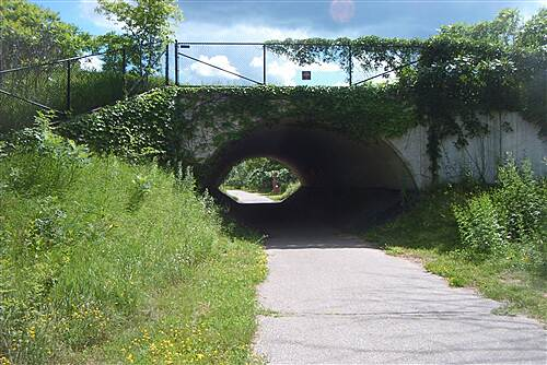 Glacial Lakes State Trail  Viney tunnel