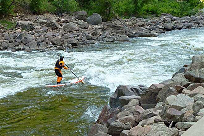 Glenwood Canyon Recreation Trail  Paddle Boarding on the Colorado