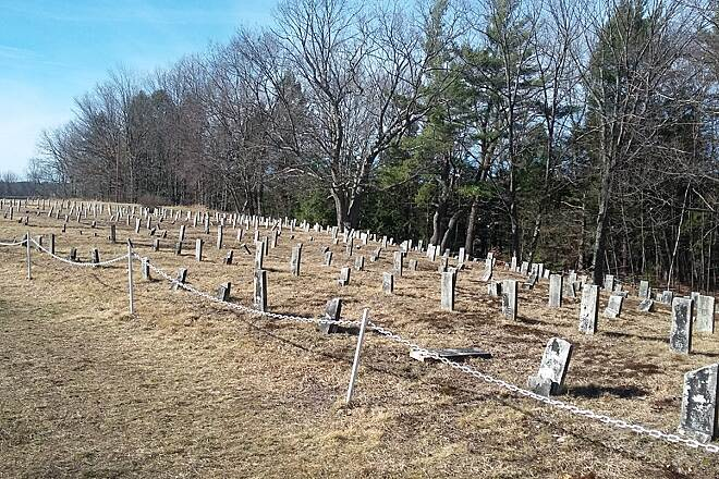 Goffstown Rail Trail Numbered grave sites Grasmere
