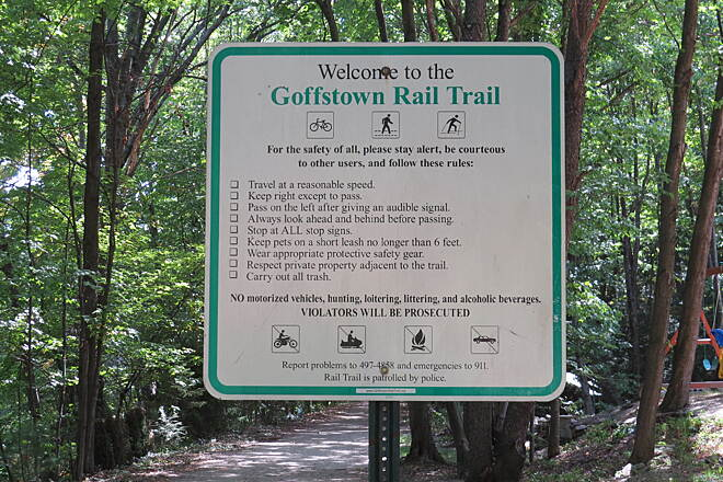 Goffstown Rail Trail Goffstown Rail Trail 9/18/2016