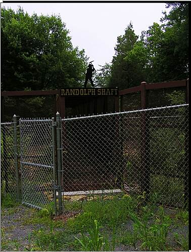 Gold Hill Rail-Trail Randolph Shaft The ominous presence of the over 800 ft. deep Randolph Shaft is enough to dispel even the most zealous adventurer.