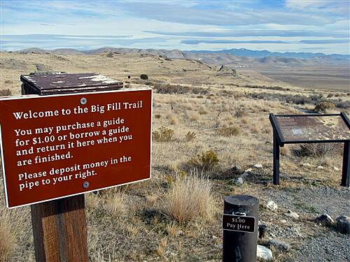 Golden Spike National Historic Site Big Fill trailhead. Parking and picnic table available. No other facilities.