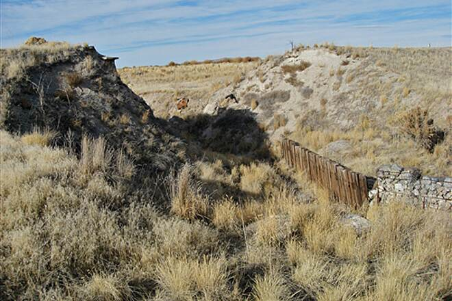Golden Spike National Historic Site No trail A difficult ravine with no trail crossing it.  Best to use the highway.