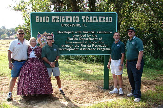 Good Neighbor Trail Brooksville Trailhead Photo courtesy Hernando County MPO