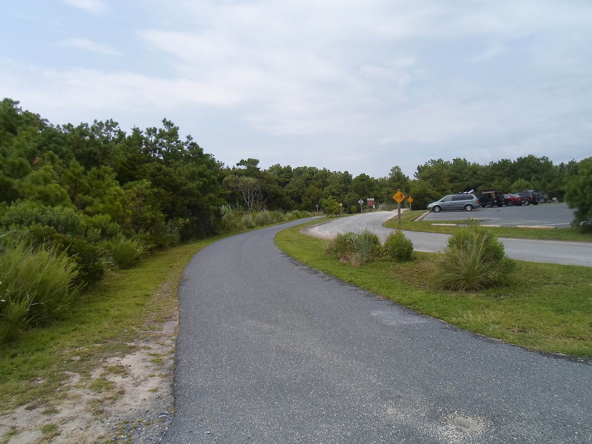 Gordons Pond Trail Gordons Pond Trail Southern terminus at the North Shores community, just north of Rehoboth Beach. Taken July 2015.