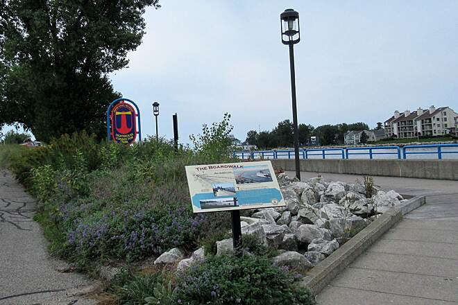 Grand Haven Waterfront Trail Trail is also the boardwalk This trail is also known as the boardwalk in Grand Haven.