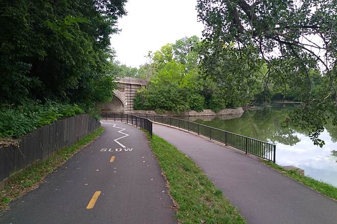 Grand Rounds Scenic Byway Lake Street Underpass Grand Rounds trail in Uptown connecting Lake of the Isles to Bde Maka Ska