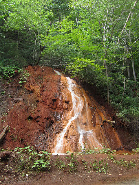Great Allegheny Passage GAP Waterfall Located between Ohiopyle and Boston.