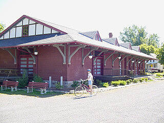 Great Allegheny Passage Meyersdale Train Station At the trailhead in Meyersdale.