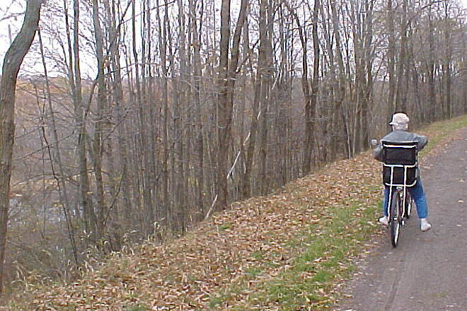 Great Allegheny Passage Trail and river by Rockwood