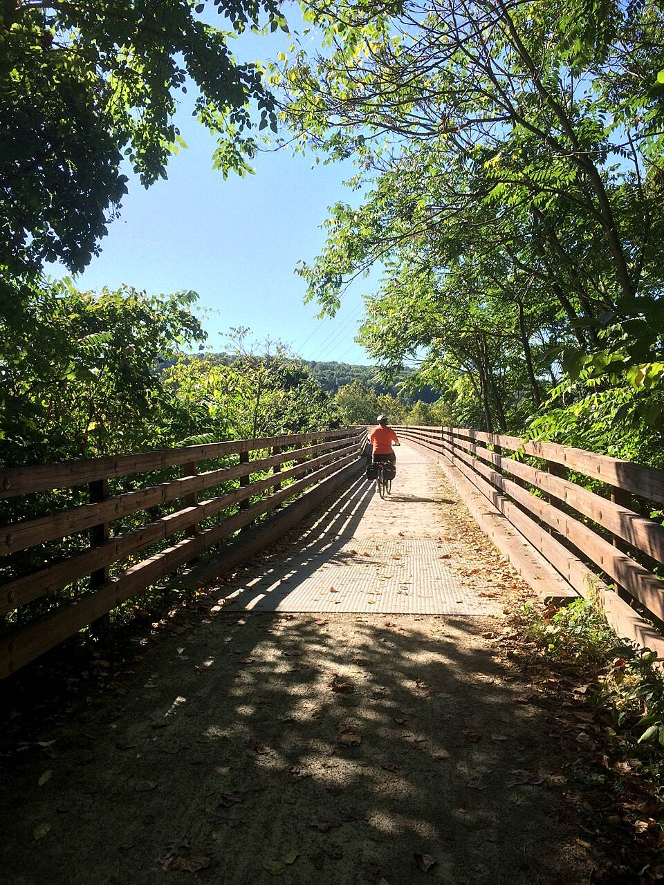 Great Allegheny Passage Traveling east One of the bridges as the trail crosses over the Yogahainey River.