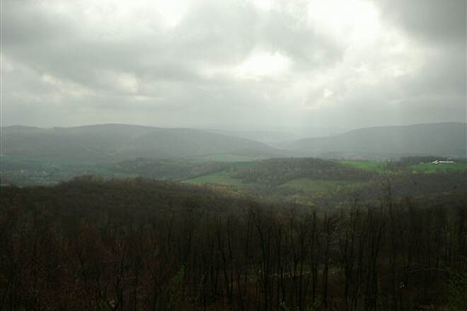 Great Allegheny Passage Scenic Overlook  On the way down to Cumberland
