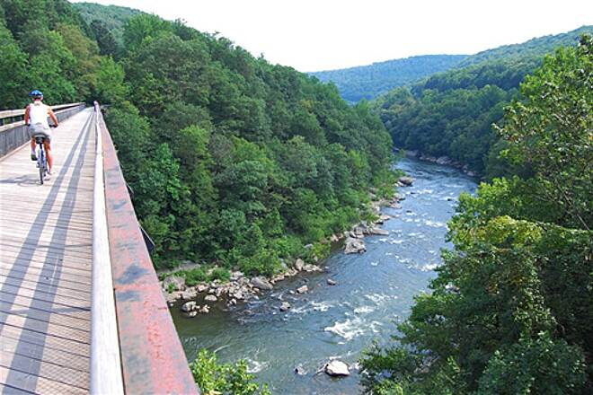 Great Allegheny Passage Youghany River Bridge at Ohiopyle, PA A wonderful day on the GAP