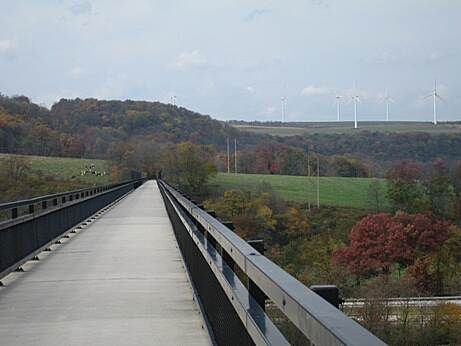 Great Allegheny Passage Salisbury Trestle This 1,908 foot long trestle gives riders a spectacular view of the Casselman River valley.