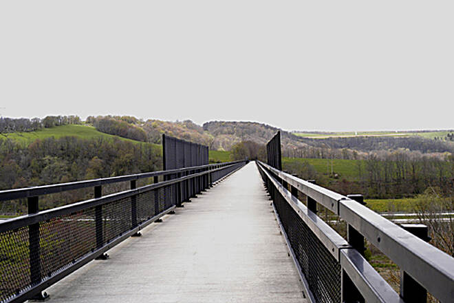Great Allegheny Passage Allegheny Highlands Trail of Pennsylvania A view of the 1,908 foot long Salisbury Viaduct
