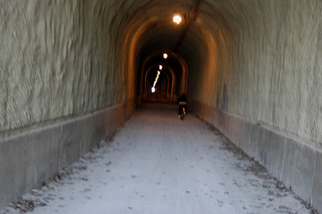 Great Allegheny Passage Allegheny Highlands Trail of Pennsylvania This photo was taken inside the Big Savage Tunnel