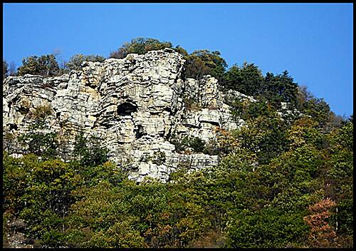 Great Allegheny Passage Allegheny Highlands Trail of Maryland As you travel west out of Cumberland, one of the first rock formations you see is Lover's Leap