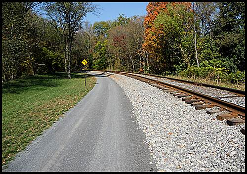 Great Allegheny Passage Allegheny Highlands Trail of Maryland The trail runs adjacent to the active line of the Western Maryland Railroad