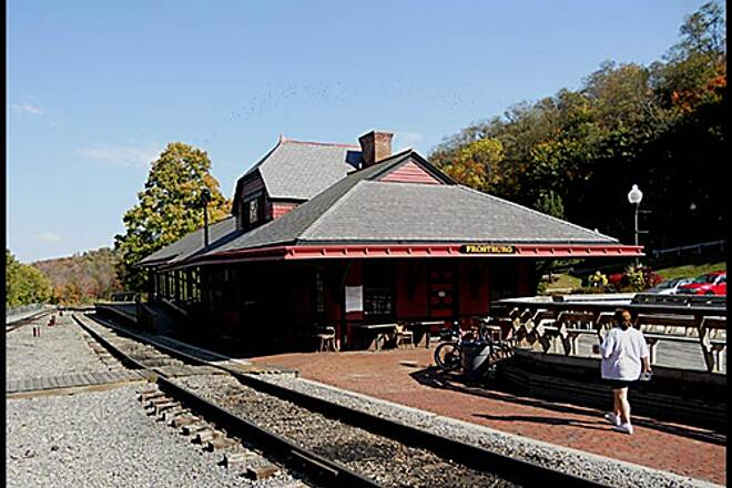 Great Allegheny Passage Allegheny Highlands Trail of Maryland The Frostburg Station