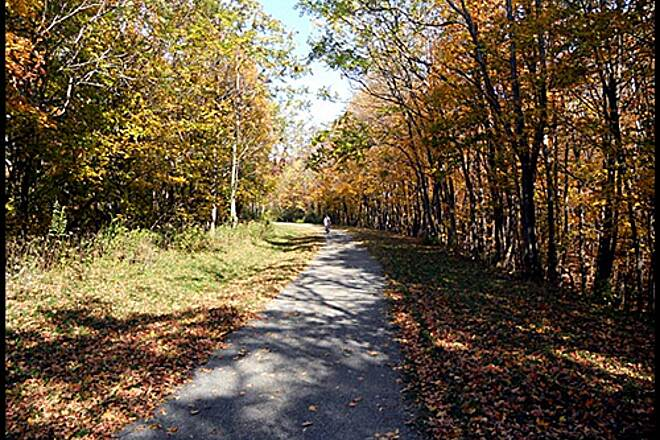 Great Allegheny Passage Allegheny Highlands Trail of Maryland A great time to travel the Allegheny Highlands Trail of Maryland is in the fall to enjoy the colors of the foliage
