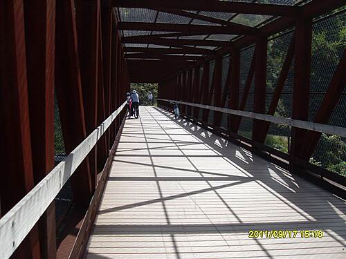 Great Allegheny Passage   The bridge that crosses the live train tracks