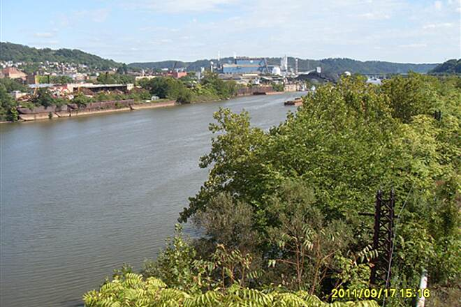 Great Allegheny Passage   A view of the Mon River from the Bridge