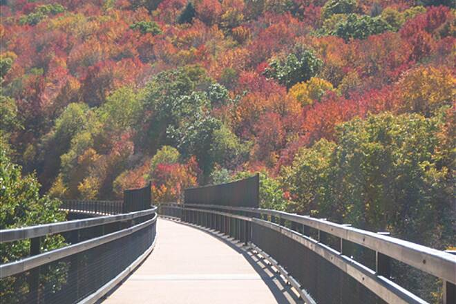 Great Allegheny Passage Keystone Viaduct Astounding Fall Colors