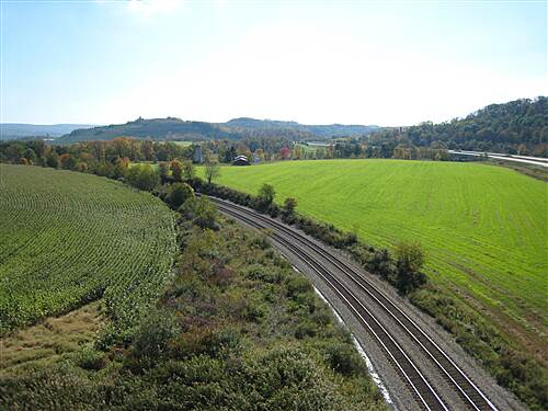 Great Allegheny Passage   View from the Salisbury viaduct (October 6, 2011)