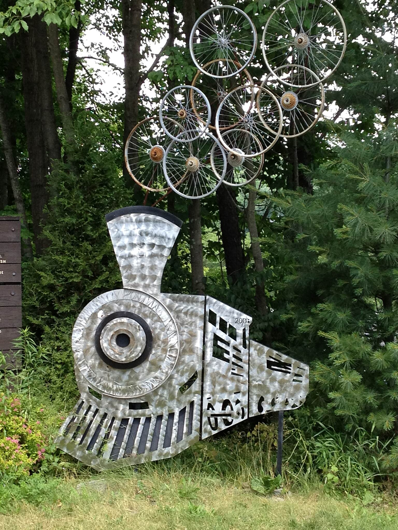 Great Allegheny Passage RailTrail Artist Sculpture- Rockwood, PA One of the many sweet surprises along the G.A.P!
