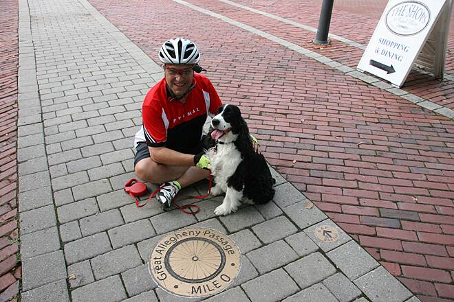 Great Allegheny Passage with Atticus at Mile Zero 07/27/14
