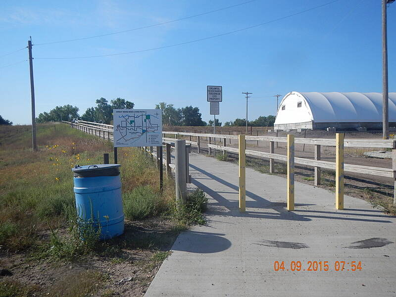 Great Bend Levee Trail Obstruction These Bollards do not allow a 3 wheel Cycle access.  they are less than 36 inches apart.  Noel Keller 4 Sep 15