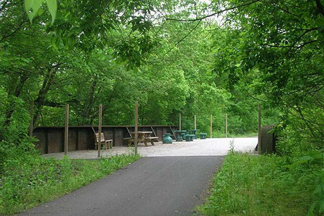 Great Guernsey Trail Next bridge on trail furnished with tables and chairs Next bridge on trail furnished with tables and chairs