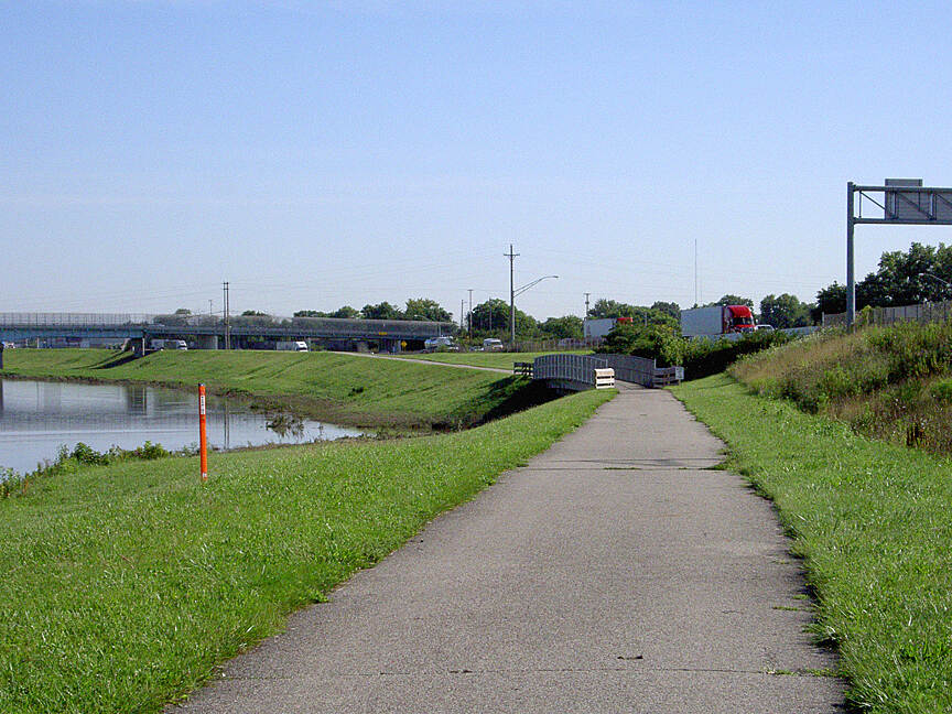 Great Miami River Trail West Carrollton July 2015 Northbound along West side of I-75