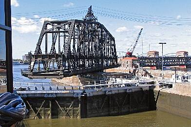 Great River Trail Swing Bridge at Rock Island Arsenal