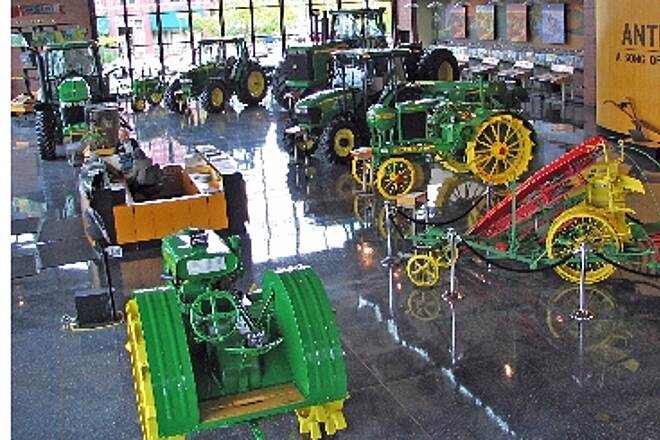 Great River Trail John Deere Pavillion Inside Interior of the John Deere Pavillion in Moline IL