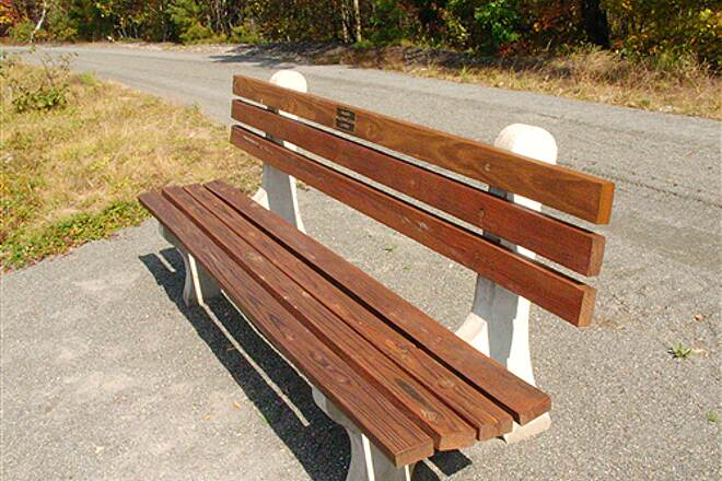 Greater Hazleton Rails to Trails  Park Bench on the trail