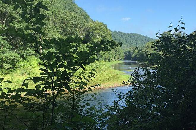 Greenbrier River Trail View of Greenbrier River Near Marlinton
