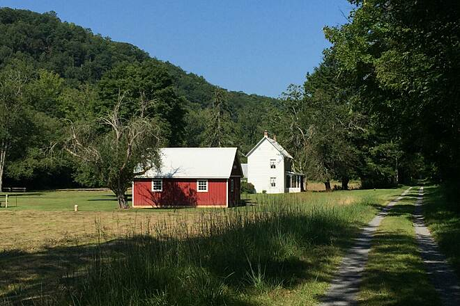 Greenbrier River Trail Farm along Greenbrier River  South of Marlinton