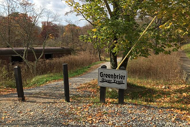 Greenbrier River Trail Cass Trail Head Start of trail at Cass October 2015
