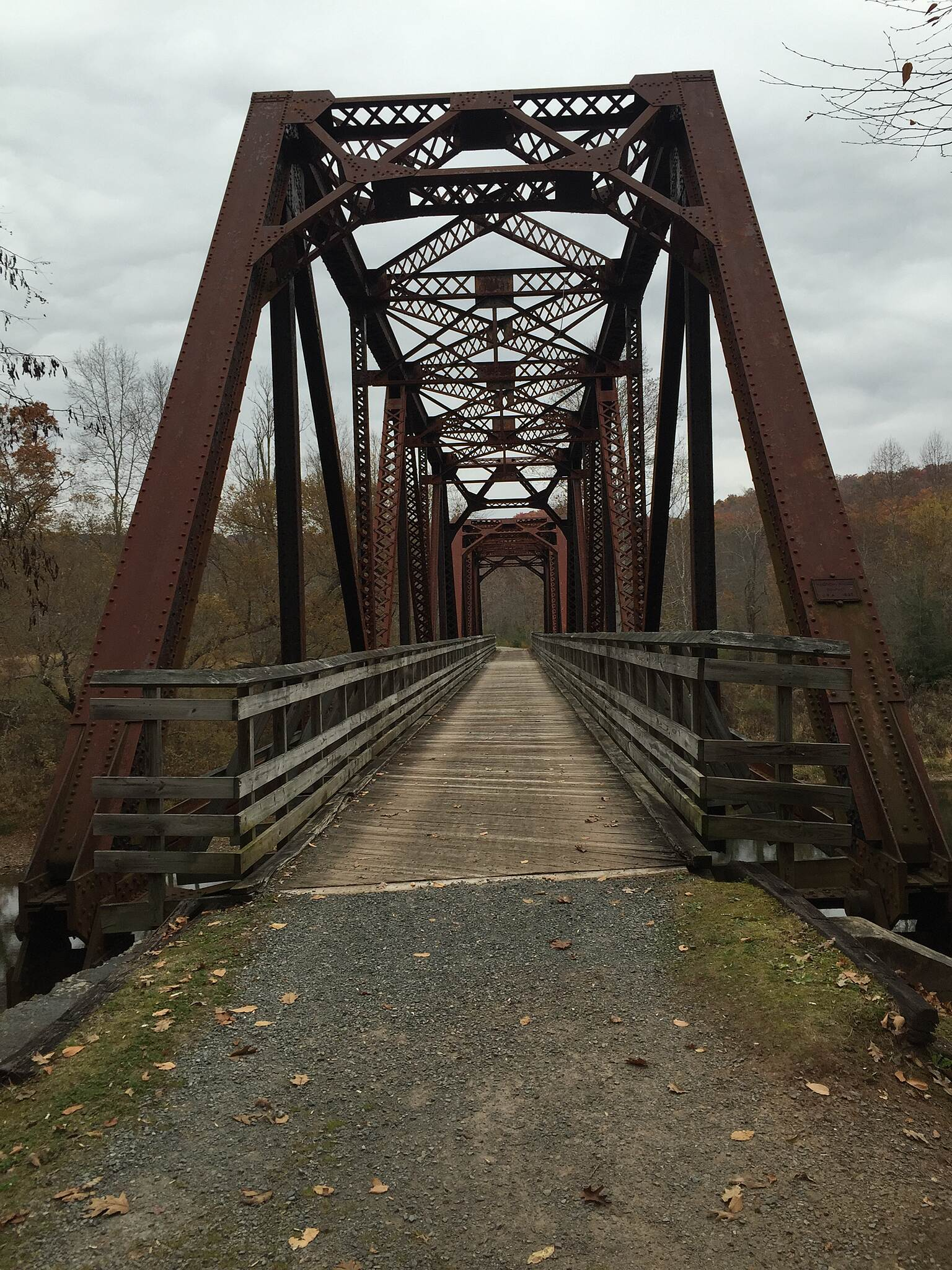 Greenbrier River Trail Watoga Brige October 2015